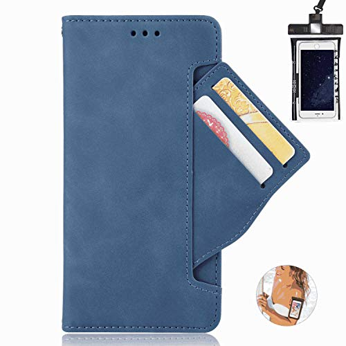 iPhone 11 Pro Flip Case, Cover for iPhone 11 Pro Leather Extra-Durable Business Kickstand Card Holders Cell Phone case with Free Waterproof-Bag Elegant