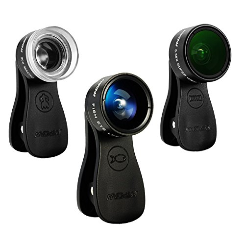 Mpow Mlens 3 in 1 Clip-On Lens, Fisheye+0.36X Wide Angle Len...