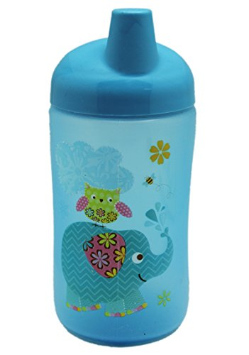 Blue Colored Super Sipper Cup With Elephant and Owl Illustration