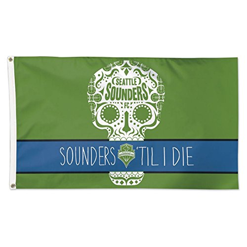 Seattle Sounders ''Sounders Til I Die'' Flag - Deluxe by WinCraft