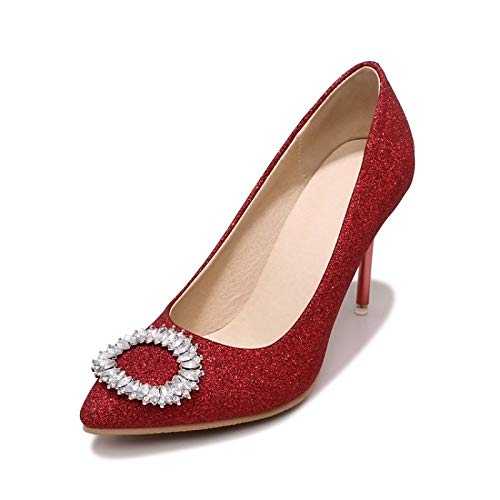 Shoes Red Spring ZHZNVX Stiletto Comfort Silver Purple Heels amp; Summer Heel Synthetics Women's Red 65xqU