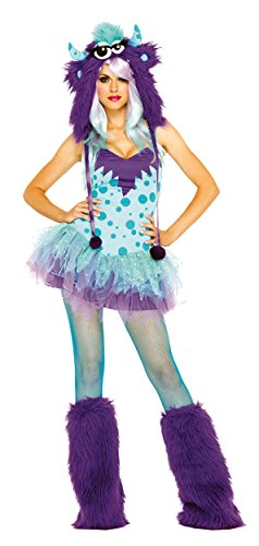 Polka Dotty Adult Costumes (UHC Sexy Polka Dotty Monster Outfit Funny Theme Party Halloween Fancy Costume, XS (0-2))
