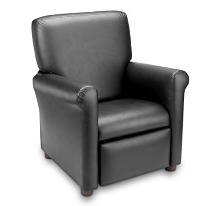 Attirant Crew Furniture 649850 Urban Child Recliner Black Vinyl