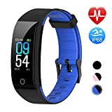 TwobeFit Fitness Tracker Waterproof Fitness Watch Color Screen Heart Rate Sleep Monitor Activity