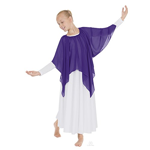 Eurotard Child Single Handkerchief Skirt (39768C) -Purple -