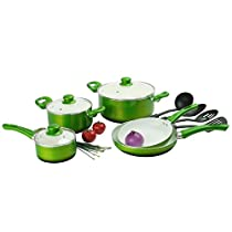 Durable Ceramic Non-stick 12-piece Cookware Set