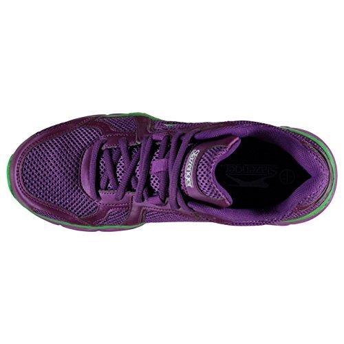 Slazenger Venture Baskets pour femme Violet/vert Sneakers Chaussures de sport Chaussures