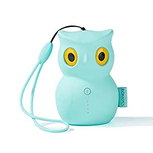 Mini Power Bank, ROMOSS Cute Owl Cartoon Portable Charger 5200mAh External Battery Charger Cell Phone Backup Battery for Smart Phones -Tiffany Blue