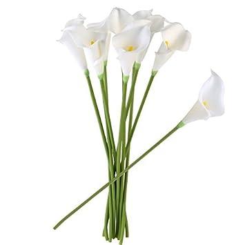 Amazon De Ultnice 10 Stucke Weiche Pu Kunstliche Blume Calla Blumen
