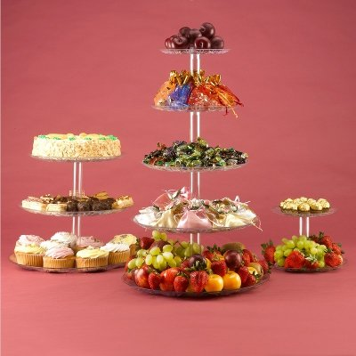 5 Tier stand for Cupcake wedding cake food fruit display Lighthouse Crafts 5TCST-01