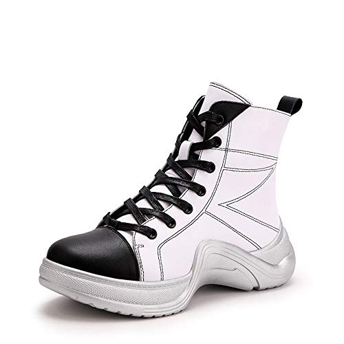 Boots Style Hip Rubber Street White Heel Hop XINGMU Zw7qw