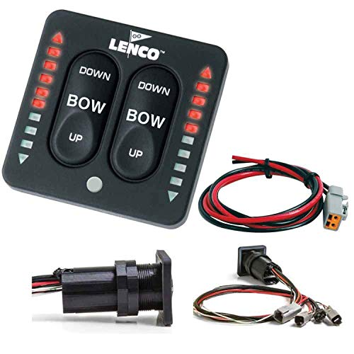 Indicator Lenco Switch - Lenco LED Indicator Integrated Tactile Switch Kit w/Pigtail f/Single Actuator Systems