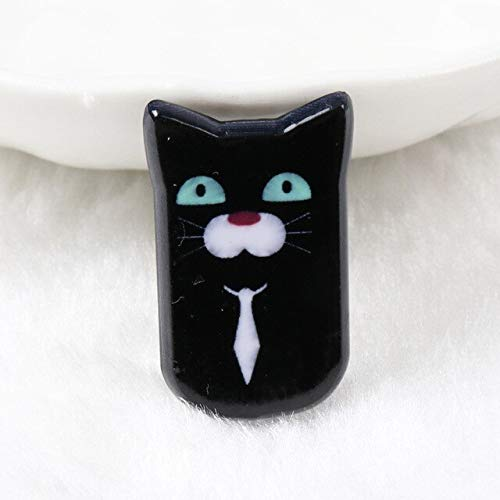 Buttons - Black Cat Acrylic Cabochon Scrapbook Craft Button 19x30mm Diy Phone Decor Headwear Accessory 10pcs Mz37 - Vomit Computed Axial Tomography Clitoris Sick Acrylate Resin -
