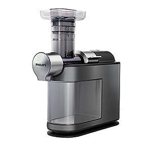 Philips HR1947/30 Micro Juicer Estrattore di Succo con Tecnologia Micro Masticating, Tubo d'Inserimento XL, senza Ricettario, Grigio/Nero - 2021 -