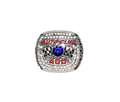 BRAD KESELOWSKI (Auto Club Speedway) 2015 AUTO CLUB 400 RACE WINNER Sprint Cup Series Rare Collectible Replica Silver NASCAR Championship Ring with Cherrywood Display Box