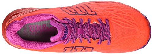 Wilson Wrs323420e065, Chaussures de Tennis Femme, Orange (Fiery Coral/Fiery Red/Rose Violet), 40 1/3 EU