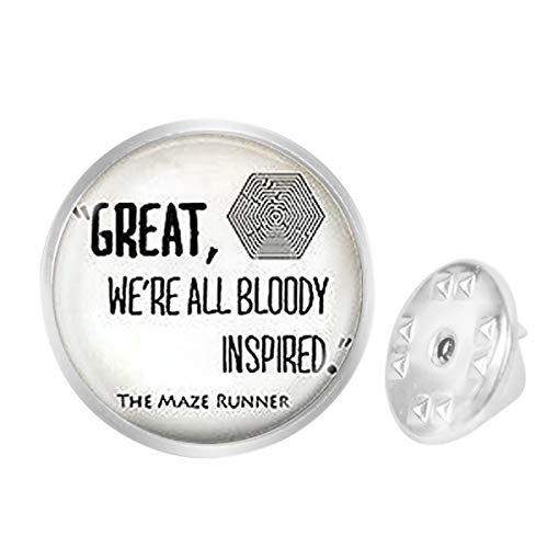 Custom Lapel Pin Brooches Maze Runner Quote Banquet Badge Pins Trendy Accessory Jacket T-Shirt Bag Hat Shoe (Runner Quote Maze Shirt)