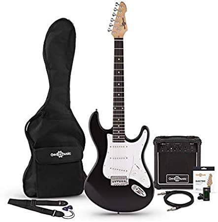 Set de Guitarra Electrica LA + Amplificador Negra: Amazon.es ...