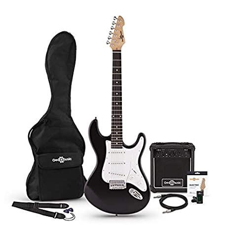 Guitarra Electrica LA + Set de Amplificador Negra: Amazon.es ...
