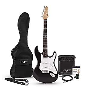 Guitarra Electrica LA + Set de Amplificador Negra: Amazon.es ...
