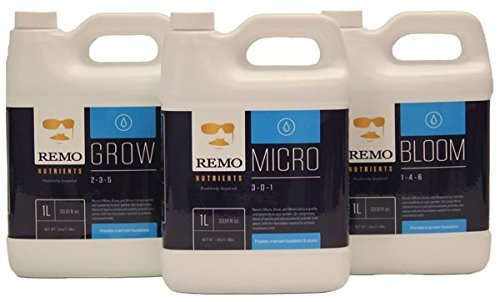 Remo Nutrient's Grow Micro Bloom Base 1 Liter of each Hydroponics and soil Trio