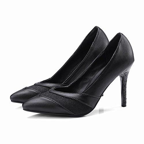 Carolbar Women's Elegant Sexy Stiletto High Heel Pointed Toe Court Shoes Black VAJYd