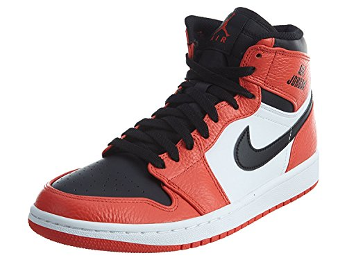 1 Retro High Basketball Shoe Max Orange/Black 10.5 (Authentic Nike Air Jordan Shoes)
