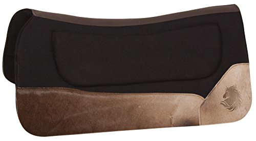 Blanket Contour Saddle - AceRugs PERFECT FIT WESTERN LEATHER FELT HORSE SADDLE PAD THERAPEUTIC CONTOUR SHOCK GEL INFUSED PAD BLANKET ORTHOPEDIC (Standard)