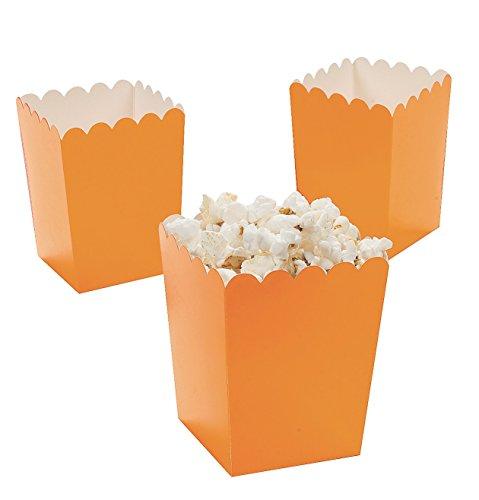 Fun Express Mini Popcorn Boxes - Orange (24 Pack) - Teacher Resources & Birthday Supplies