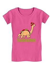Tacosaurus Taco Funny Taco Dinosaur Gift Toddler/Kids Girls' Fitted T-Shirt