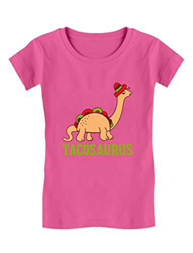 79d5006b Tacosaurus Taco Funny Taco Dinosaur Gift Toddler/Kids Girls' Fitted T-Shirt  2T