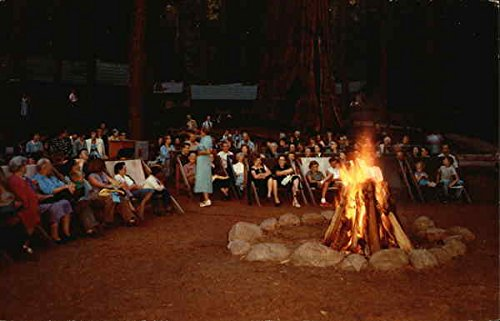 - Evening Campfire Sequoia & Kings Canyon National Parks Original Vintage Postcard