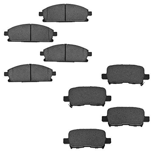 Acura Mdx Brake Pads (Front & Rear Ceramic Brake Pad Kit Set for Acura MDX)