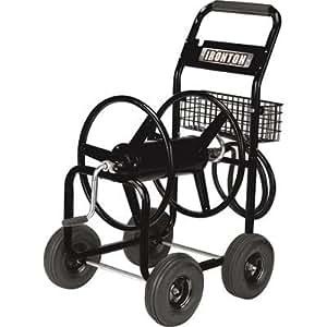 Amazon.com : Ironton Garden Hose Reel Cart - Holds 5/8in ...