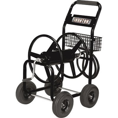 Ironton Hose Reel Cart - Holds 300ft. x 5/8in. Hose (Best Garden Hose Reel)