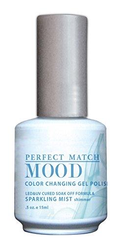 LECHAT Perfect Match Mood Gel Polish, Sparkling Mist, 0.500