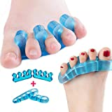 Gel Toe Separators and Toe Straightener by INST for Relaxing Toes,Bunions,Foot Pain, Hammer Toe and more for Women and Men