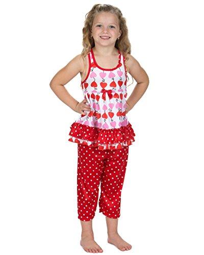 Laura Dare Girls Heart Strings Racerback Pajamas