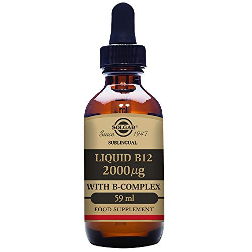 Cheap Solgar Sublingual Liquid B-12 2000 mcg with B-Complex, Suitable for Vegans, 59 servings, 2 fluid ounces
