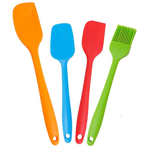 K-Home Silicone Spatula set – Heat Resistant and Non-Stick Spatulas for Cooking, Baking and Mixing (4 Pack)