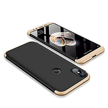 AROYI Funda Xiaomi Mi A2, Carcasa Xiaomi Mi A2 360 Grado 3 in 1 Slim Ultra Fina Híbrida Arañazos Protección Skin Caso Cover para Xiaomi Mi A2/ Mi 6X - ...