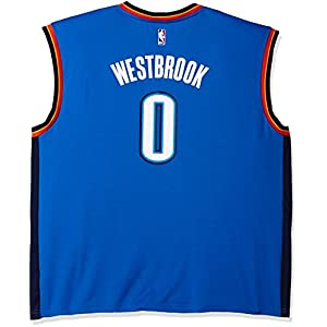 NBA Men's Oklahoma City Thunder Russell Westbrook Replica Player Road Jersey, 4X-Large, Blue