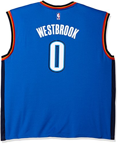 NBA Men's Oklahoma City Thunder Russell Westbrook Replica Player Road Jersey, 3X-Large, Blue