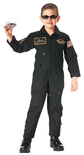 Rothco Kids Aviator Flight Coverall, Black, Medium
