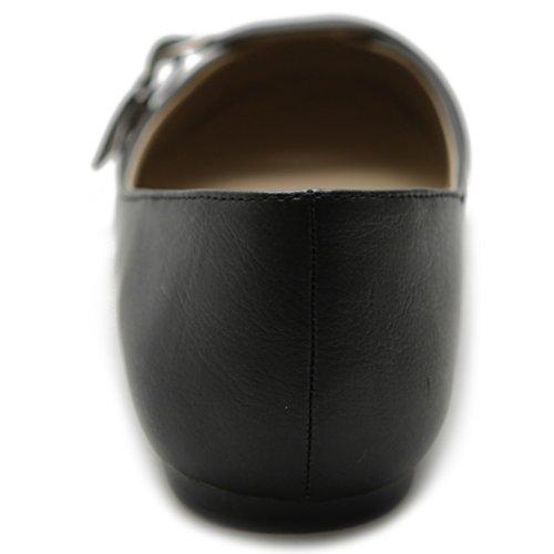Balletto Scarpa Ollio Donna Mary Jane Flat Black