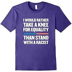 Mens Take a Knee for Equality! Anti Trump T-Shirt XL Purple