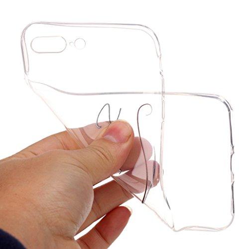 "iPhone 7 Plus Hülle , Leiai Mode Auge (Smile) Transparent TPU Weich Schwarz Tasche Schutzhülle Silikon Handyhülle Stoßdämpfende Schale Case Shell für Apple iPhone 7 Plus 4.7 Plus"""