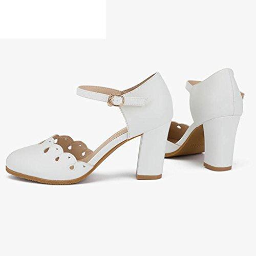 Marée Petits Taille Coréen Blanc Chaussures Des Frais Femmes 36 Avec Talons Étudiants Hauts Jingsen Pink Décontractées Printemps Creux couleur EqHaUWB