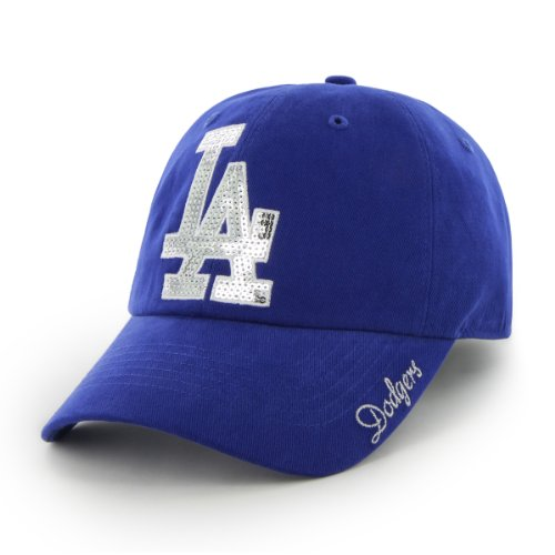 MLB Los Angeles Dodgers Women's Sparkle Team Color Cap, One-Size, Royal