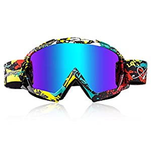 Ski Goggles, Basecamp Snow Snowboard Skiing Goggles Dust UV Dustproof Scratch Resistant Bendable Windproof Eyewear for Men Women Skiing Snowboarding Motorcycle Cycling Snowmobile Winter Outdoor Sports